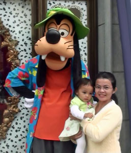 goofy with baby gee