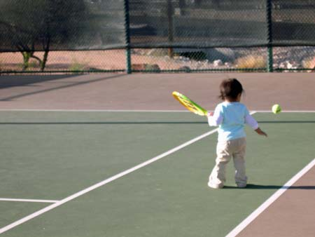 baby tennis superstar