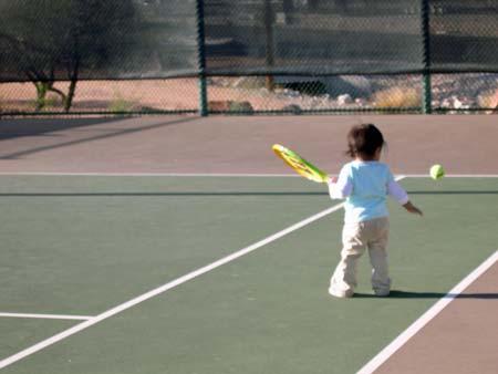 baby tennis superstar
