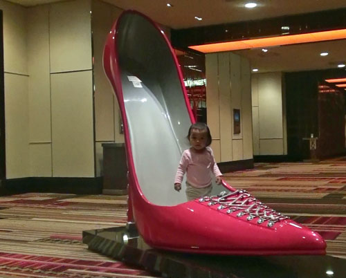 baby in a shoe