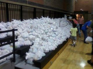 bags of food for donation