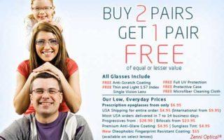 Buy 2, Get 1 Free at Zenni