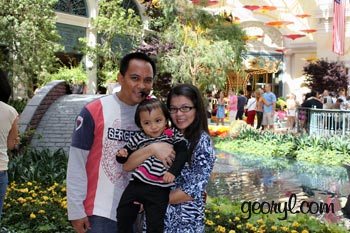 family picture at Bellagio