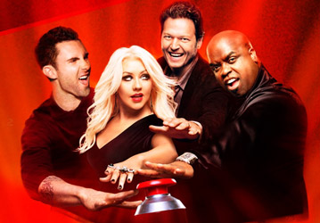 The Voice Coaches: Adam, Christina, Blake and Ceelo