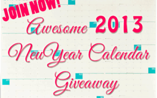 Awesome 2013 NeuYear Calendar Review and Giveaway