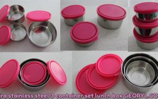 Product Review: Mira Stainless Steel 3 Container Set Lunch Box