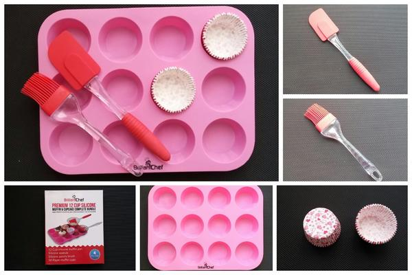 12 Cup Silicone Muffin and Cupcake Bundle by Brilliant Chef – Product Review