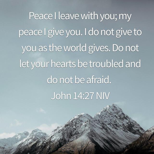 John 14:27 (NIV)