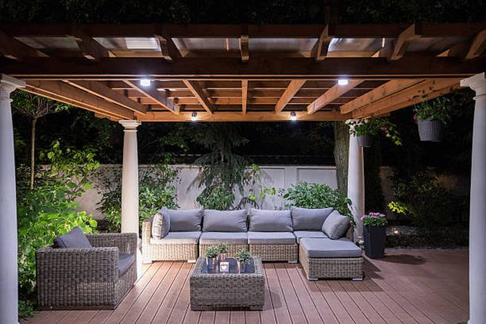 lighting-arbour-with-comfortable-garden-furniture